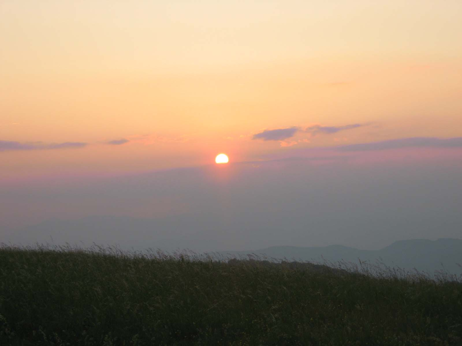 Sunrise at Max Patch.