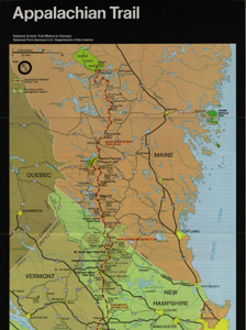 Appalachian Trail Map: New Hampshire and Maine