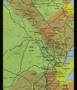 Appalachian Trail Map: New Jersey through Vermont